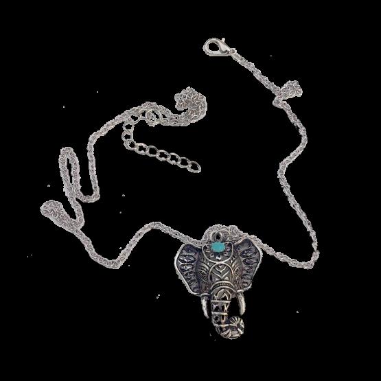 Ganesha Ketting / bijoux / boho - bohemian / zilver