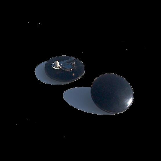 Manouk f060-1 Black Pebble Oorbellen / bijoux / eenvoudig / zwart