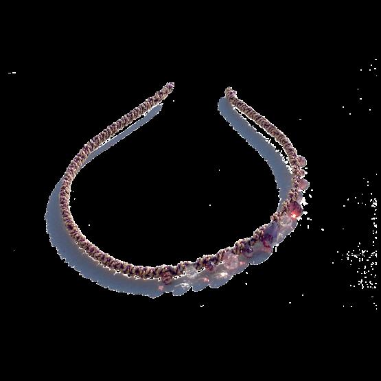 Haarband Tiara / bijoux / accesoires / roze-pink / boho