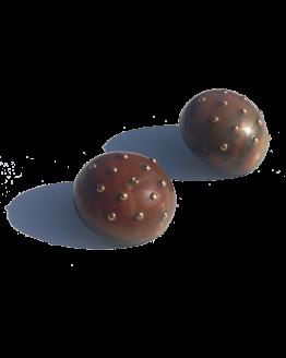Manouk hh053-1 Goeiedag Oorbellen / bijoux / groot / bruin