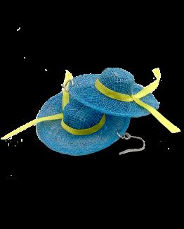 Oorbel hoedje / prinsjesdag special / bijoux / blauw