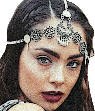 Hoofdketting Bliss / haarband / bijoux / boho - bohemian / zilver