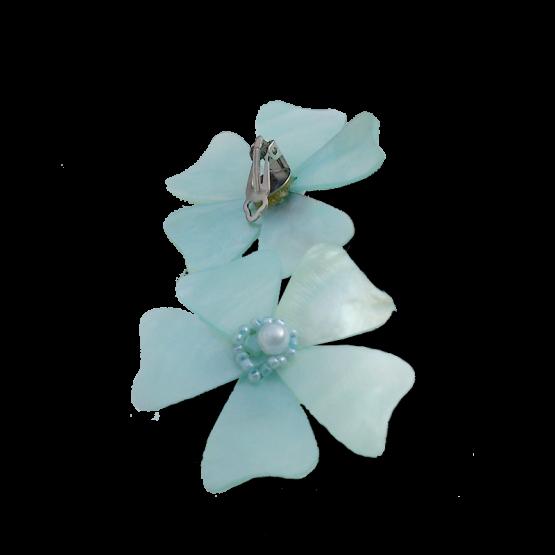Manouk p231-3 Oorbellen / bijoux / parelmoer / lichtblauw