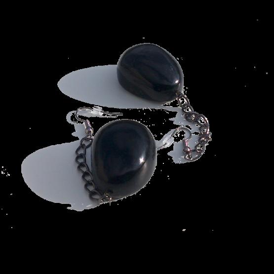 Manouk s228-1 Oorbellen / bijoux / haakjes / zwart