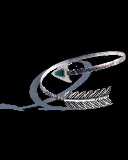 Armband Arrow / bovenarm / bijoux / boho - bohemian / zilver