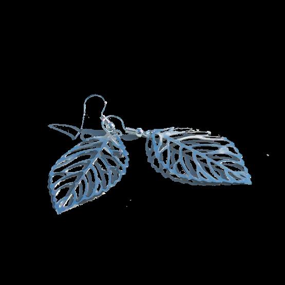 Oorbellen Beukeblad / bijoux / eenvoudig / filigraan / zilver