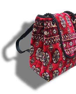 m11-248-18 / Backpack / made of carpet / tapijt tas