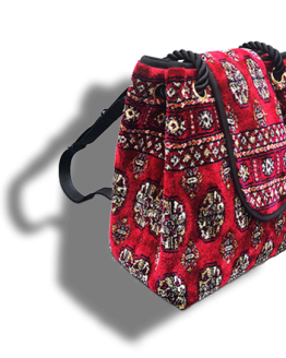 m11-248-18 / Backpack / made of carpet / tapijt tas