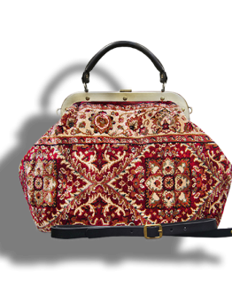 m6-566-18 m6_566-19 / ESCULAP / made of carpet / tapijt tas