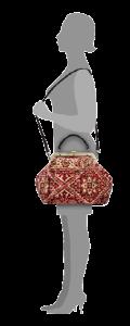 m6-566-18_figure / esculap / / carpet bags / tapijt tas / boho