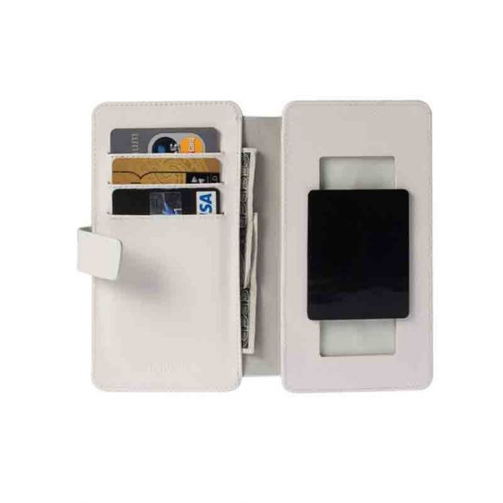 Krusell Malmo FlipWallet Slide 5XL / universeel smartphone cover / white - wit