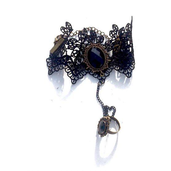 Armband Kant Zwart-Brons / bijoux / boho - bohemian / zwart-brons