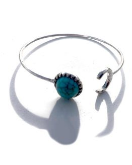 Sun-Moon Armband / boho - bohemian / zilver - turquoise