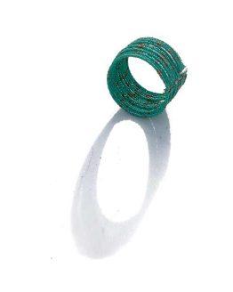 Klemarmband Multi / bijoux / zomer / turquoise - goud