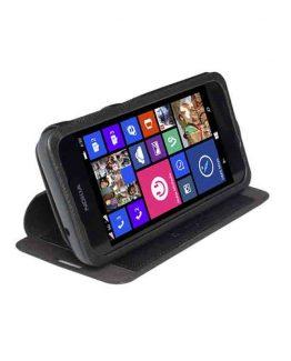 Krusell Malmo FlipCase Stand Lumia 530 Black / smartphone cover - telefoonhoesje / zwart