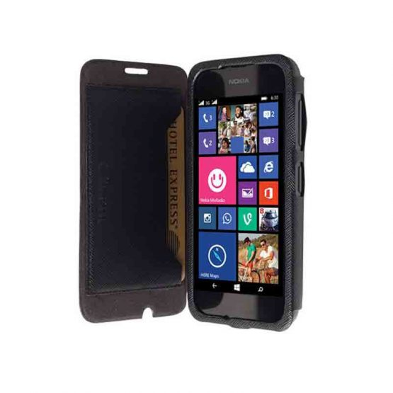 Krusell Malmo FlipCase Stand Lumia 530 Black / smartphone cover - telefoonhoesje / zwart
