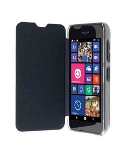 Krusell Boden FlipCover Lumia 530 Black / smartphone cover - telefoonhoesje / zwart - transparant