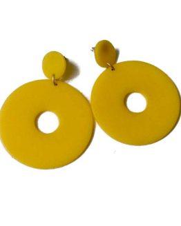 Manouk aa091-2 / hippe oorbellen / geel