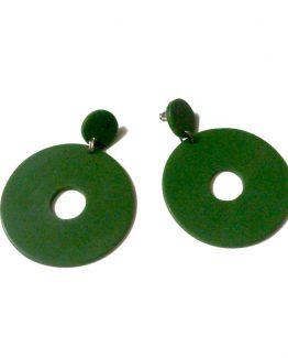 Manouk aa091-3 / hippe cirkel oorbellen / groen