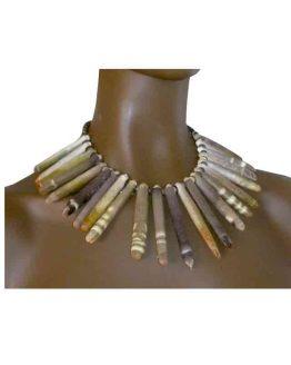 Ketting Kilauea / Manouk s118-1 / bijoux / ethnisch / bruin