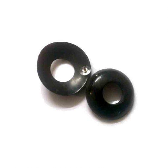 Manouk Future Oorbellen ff051-2 / bijoux / zwart