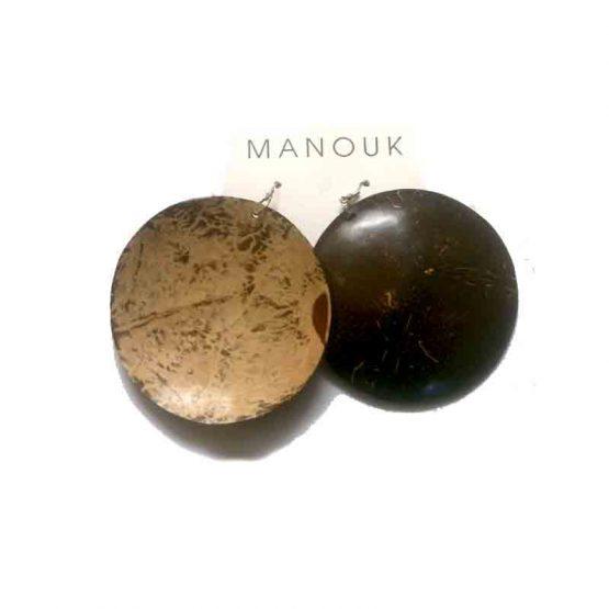 Manouk Akosua Oorbellen ff109-2 / Bijoux / hout / bruin