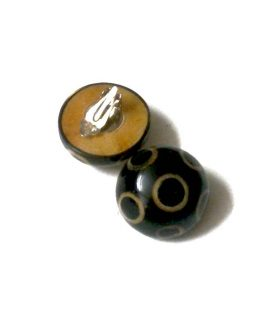 Manouk Mushroom Oorbellen ff137-1 / bijoux / clips / zwart