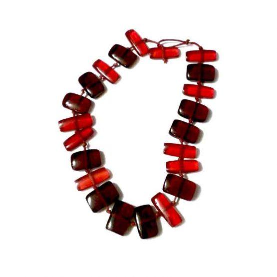 Manouk g146-1a Granaat Ketting / bijoux / rood