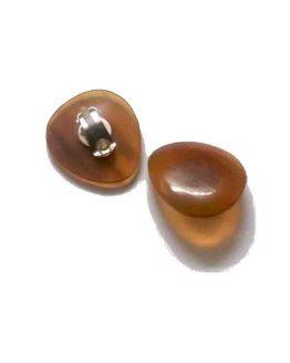 Manouk Abebi Oorbellen g156-3 / bijoux / amber / geel - oranje