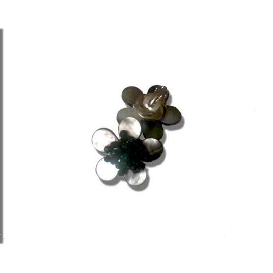 Manouk Pearl Flower gg209-1 / bijoux / bruin - parelmoer