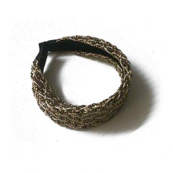 haarband goud-zwart / bijoux / nappa / goud-zwart