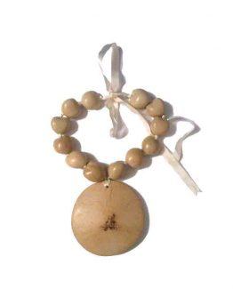 Manouk Shaquana Ketting r178-3 / bijoux / hout / beige