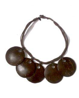 Manouk s193-1 5 disc brown Ketting / bijoux / bruin - hout