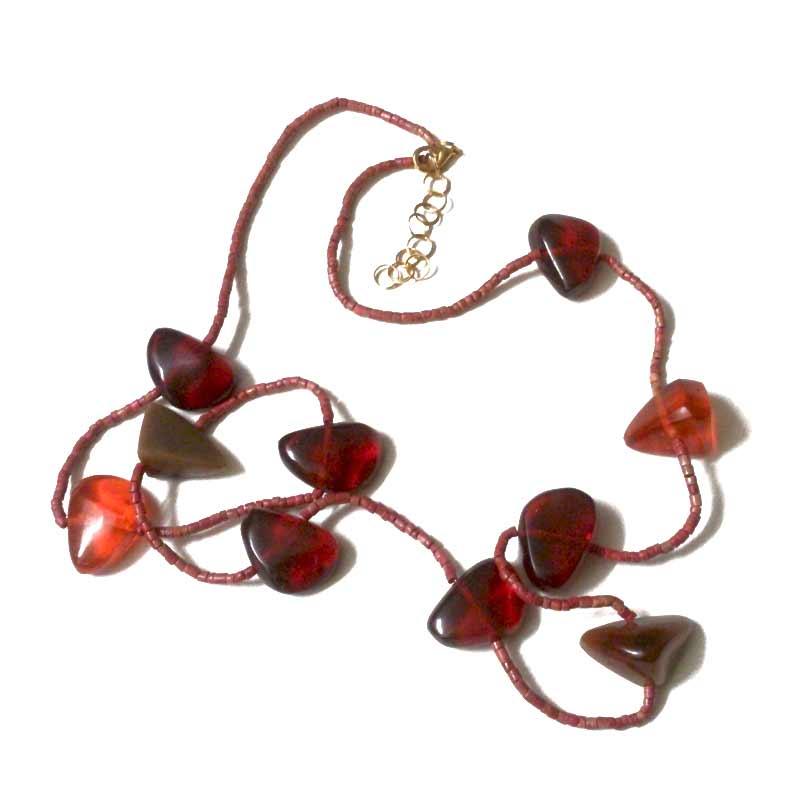 Manouk Ketting Scarlet s206-2 / bijoux / rood