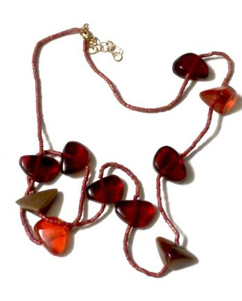 Manouk Ketting Scarlet s206-2a / bijoux / rood