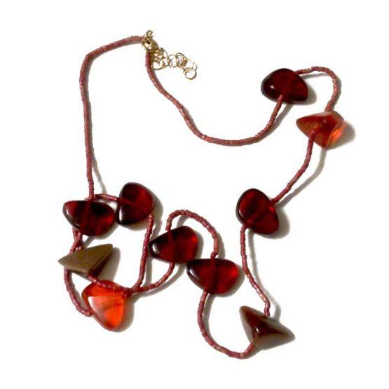 Manouk Ketting Scarlet s206-2a / bijoux / rood