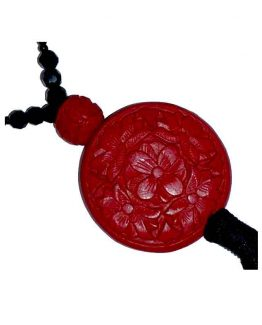 Manouk t278-1 Adesina ketting / bijoux / rood - zwart