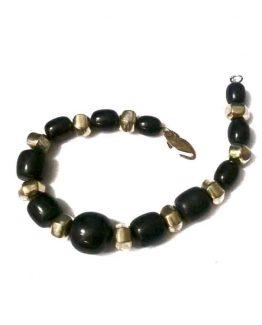 Manouk v040-2 Alexia Ketting / bijoux / zwart - goud