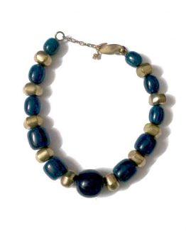 Manouk Ariane Ketting (v040-3) / bijoux / blauw - goud
