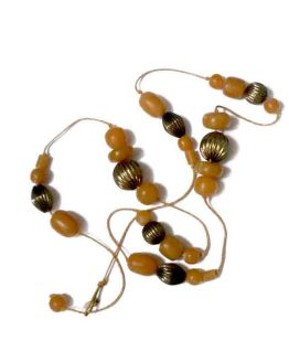 Manouk v047-4 Amber Alert Ketting / bijoux / amber - geel