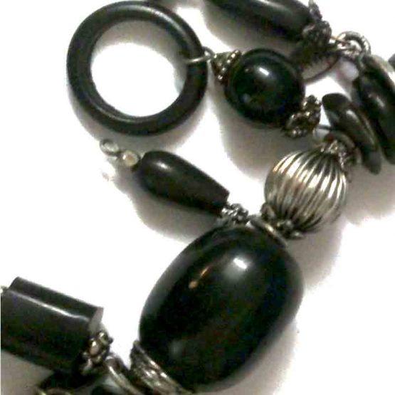 Manouk Chizoba Ketting z002-2 / bijoux / statement / zwart