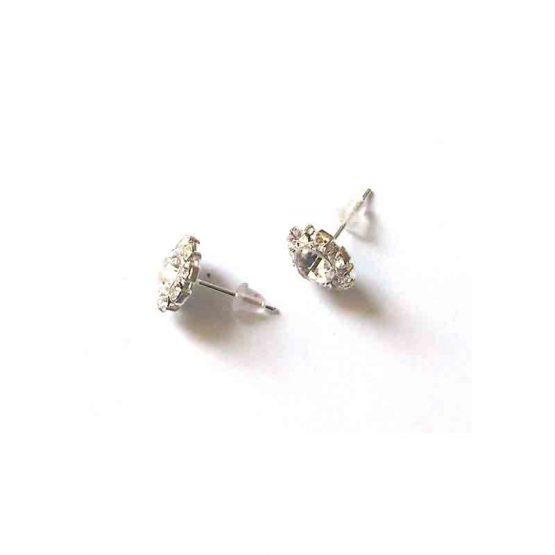 Zirconia Stekertjes / bijoux / wit-zilver