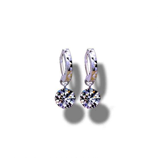 Mini_Zircon Oorbellen / bijoux / verzilverd - zirconia / zilver