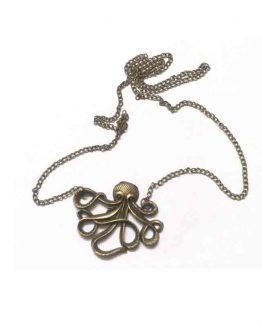 Octopussy Ketting / bijoux / inktvis / koperkleurig