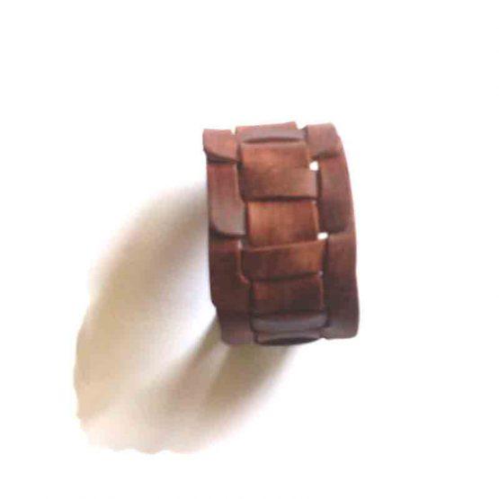 Leren Armband / bijoux / gevlochten / boho - bohemian / bruin