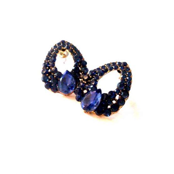 Atlantis Oorbel / bijoux / formeel / blauw - goud