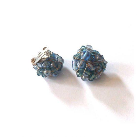 Manouk b073-7 Iris clip oorbellen / bijoux / blauwManouk b073-7 Iris clip oorbellen / bijoux / blauw