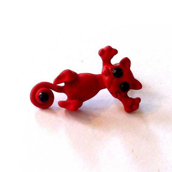 felix de kat oorbellen / bijoux / grappig / rood