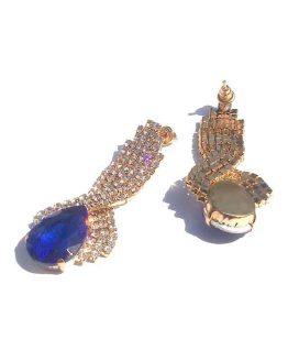 Oorbel Superstrass / bijoux / formeel / strass / blauw