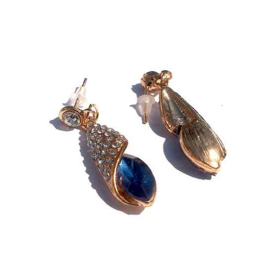 Oorbel Crystal / bijoux / formeel / strass / blauw